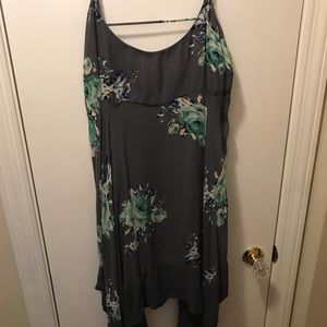 Free people short grey floral dress